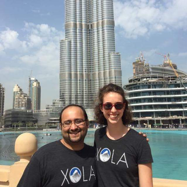 Sophie and Rushi in Dubai